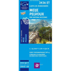 Carte IGN Top 25 : Meije-Pelvoux