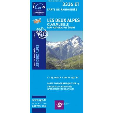 Carte IGN Top 25 Les deux Alpes