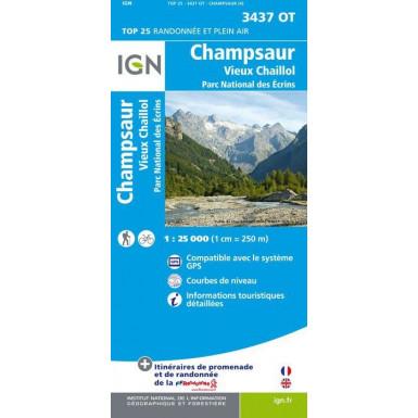Carte IGN Top 25: Champsaur – Vieux Chaillol